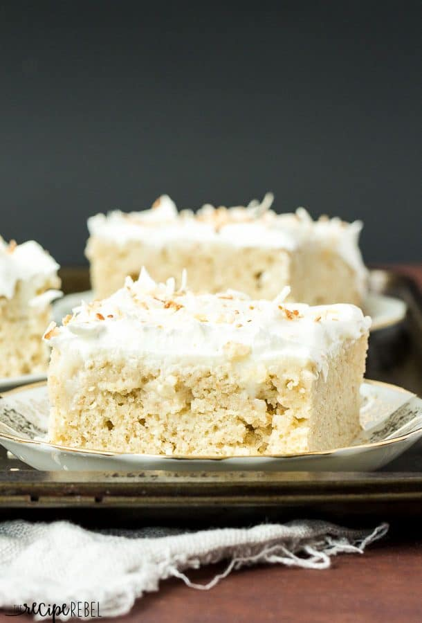 Homemade Coconut Cream Poke Cake