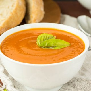 Slow Cooker Creamy Tomato Soup (with hidden veggies!)