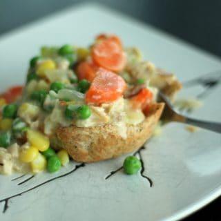 Chicken Pot Pie Biscuit Cups