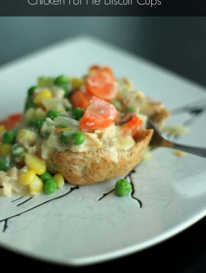 Chicken Pot Pie Biscuit Cups