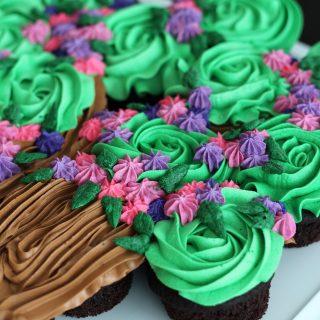 Flowering Tree Cupcake Cake Tutorial