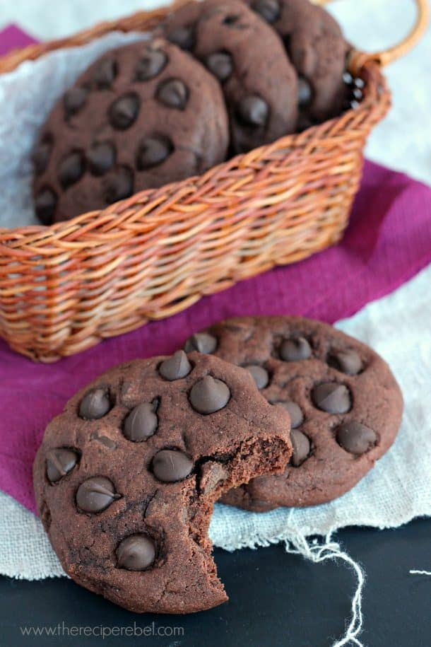 Triple Chocolate Pudding Cookies www.thereciperebel.com