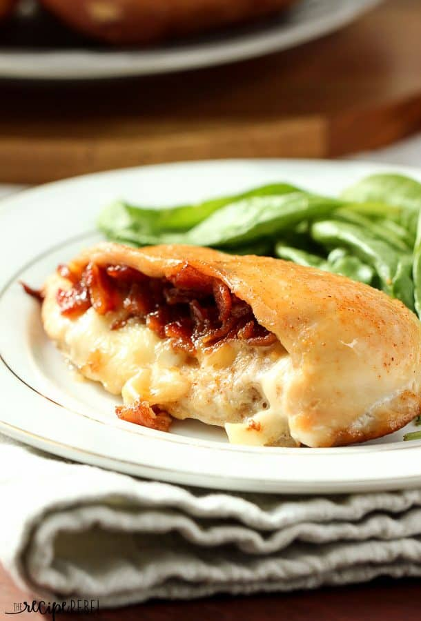 Cheese & Bacon Jam Stuffed Chicken Breasts