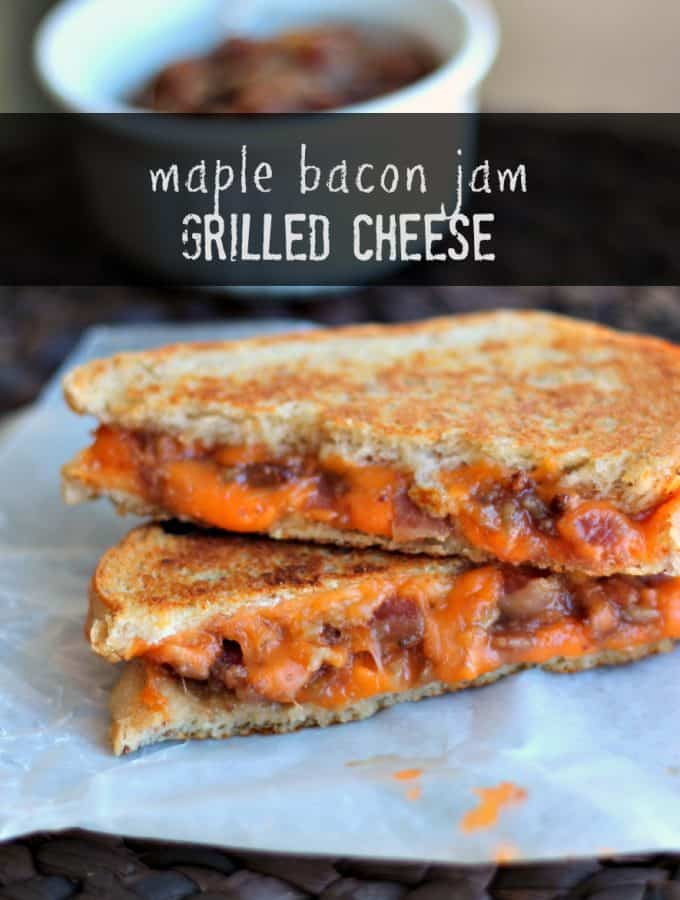 Maple Bacon Jam Grilled Cheese | www.thereciperebel.com