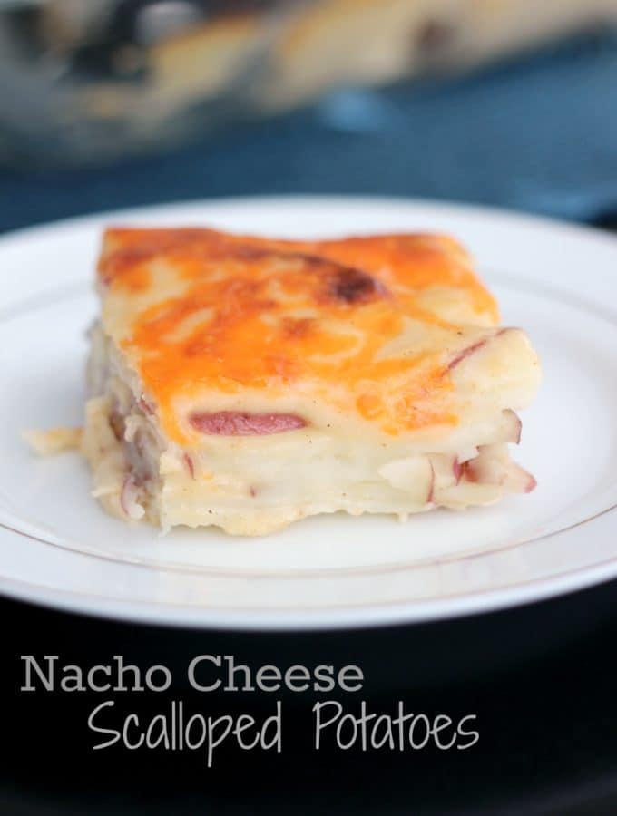 Nacho Cheese Scalloped Potatoes
