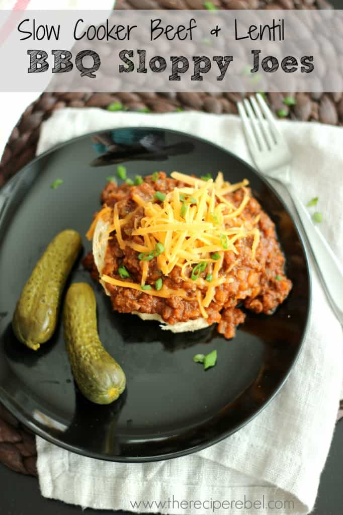 SC Beef and Lentil Sloppy Joes | www.thereciperebel.com