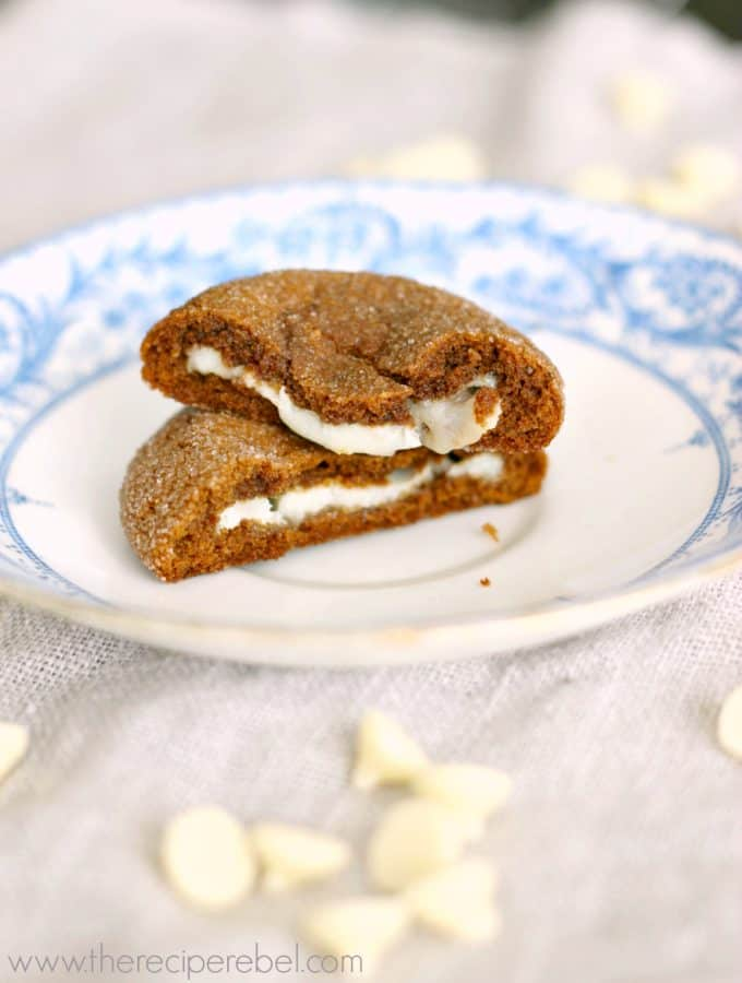 Hazelnut White Chocolate Truffle Stuffed Gingersnaps