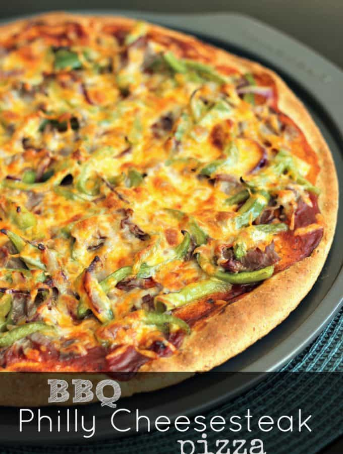 BBQ Philly Cheesesteak Pizza