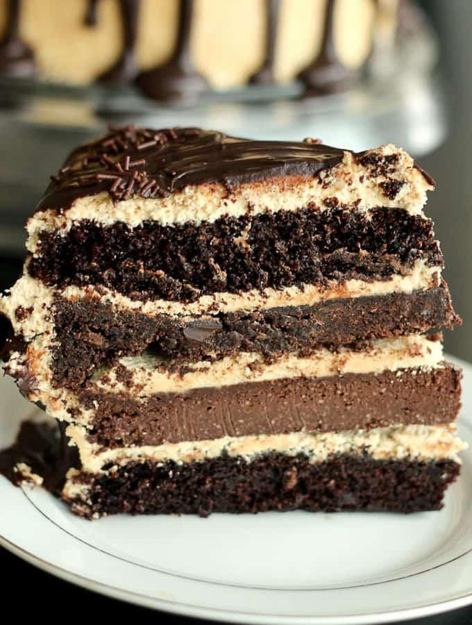 The Ultimate Chocolate Peanut Butter Cake