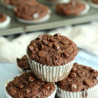 Double Chocolate Banana Bran Muffins