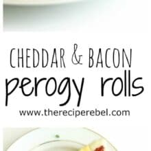 Cheddar and Bacon Perogy Rolls www.thereciperebel.com