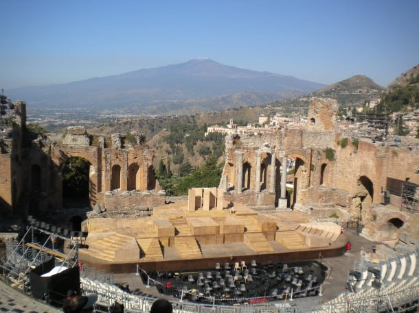 photo of the Greek Theatre in Taormina