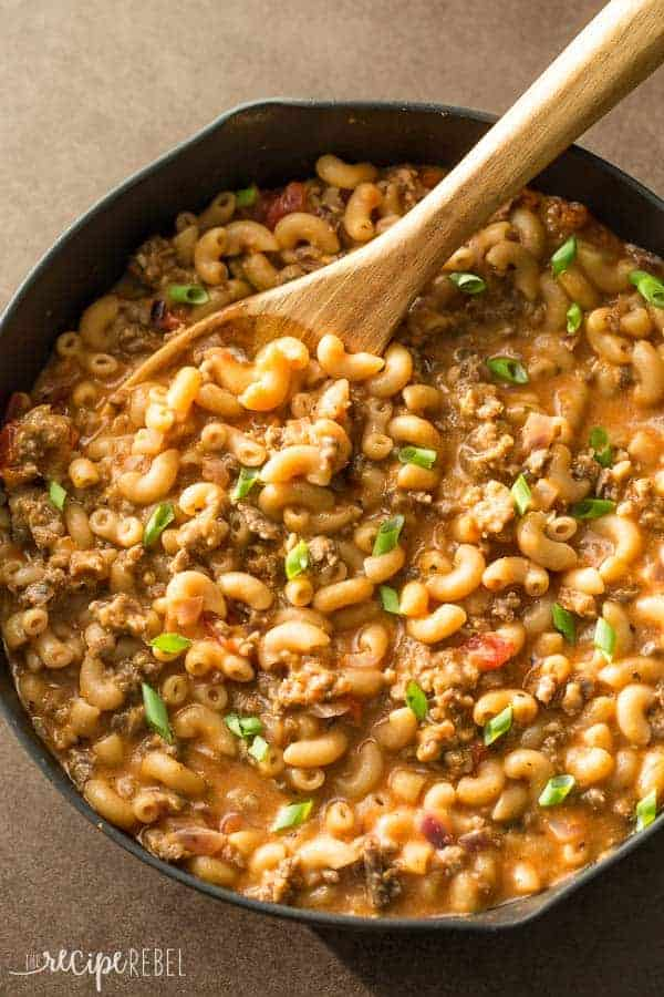 Easy Homemade Hamburger Helper Recipe + VIDEO