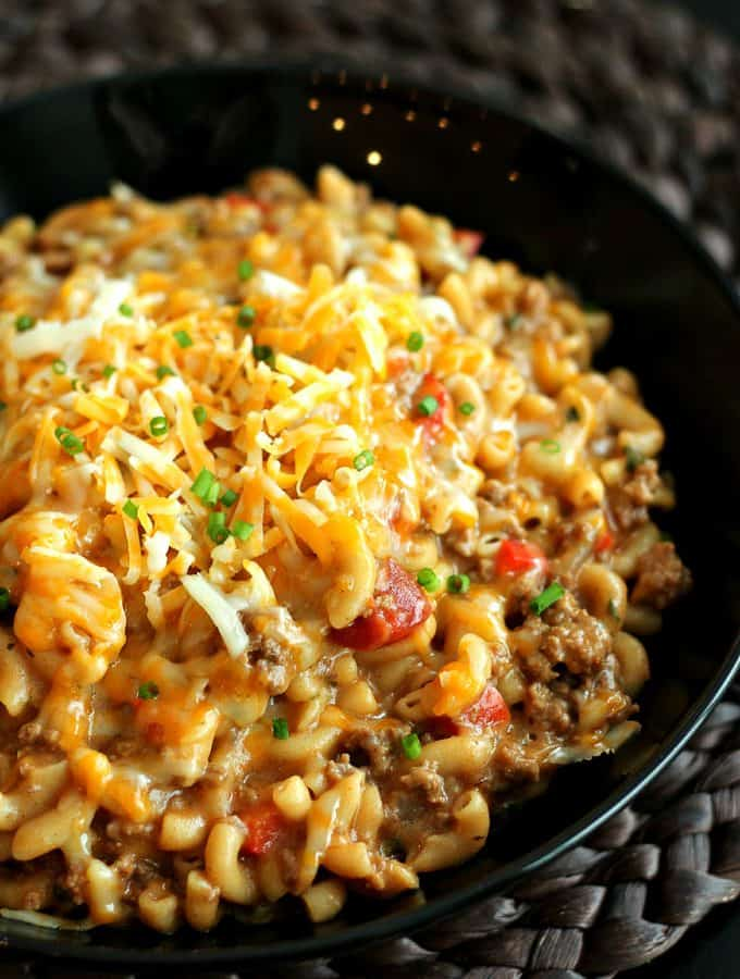 Easy Homemade Hamburger Helper: made completely in one pot! Total comfort food! www.thereciperebel.com