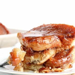 {Light} Overnight Caramel French Toast