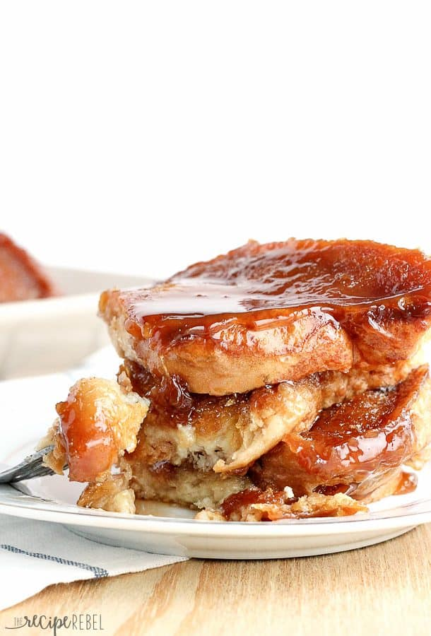 {Light} Overnight Caramel French Toast