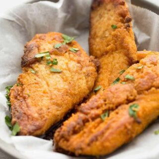 The Best Oven Fried Chicken Recipe (Baked Fried Chicken) + VIDEO