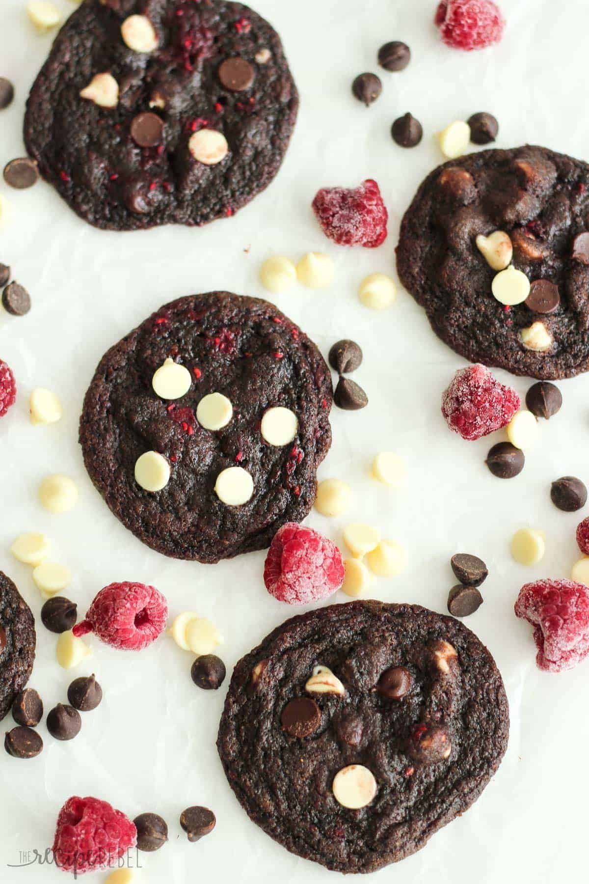 Triple Chocolate Raspberry Cookies are the BEST cookies I've ever eaten! The perfect combination of fruit and chocolate.