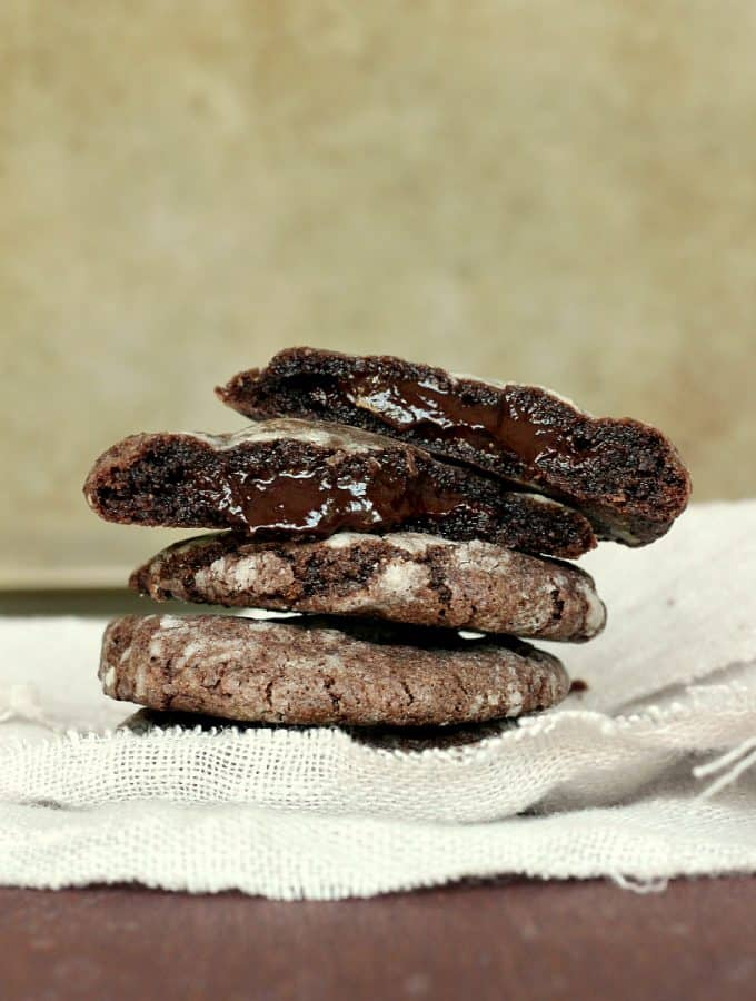 Mint Chocolate Truffle Cookies