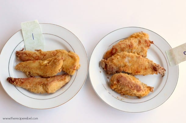 Oven Fried Chicken Experiment 1 2