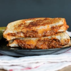 sloppy joe grilled cheese 1