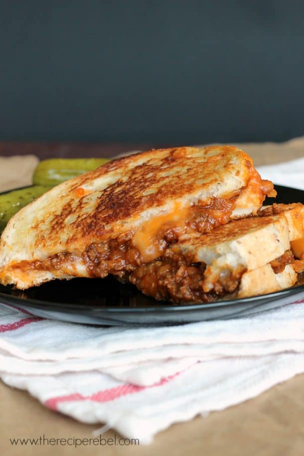sloppy joe grilled cheese 2