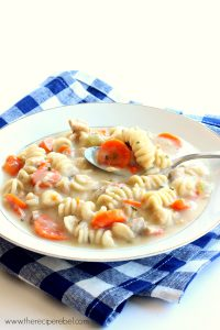 Easy Slow Cooker Creamy Chicken Noodle Soup