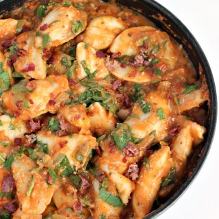 Creamy Perogie Dinner: an easy weeknight meal that's full of flavour! www.thereciperebel.com