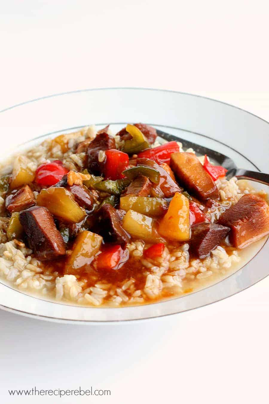 Slow Cooker} Sweet and Sour Chicken - The Recipe Rebel