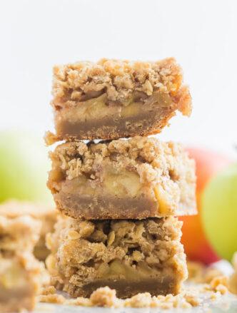 apple crisp bars stack