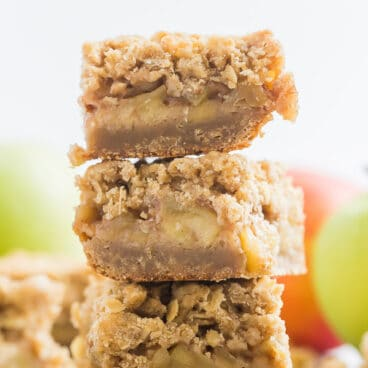 apple crisp bars stack