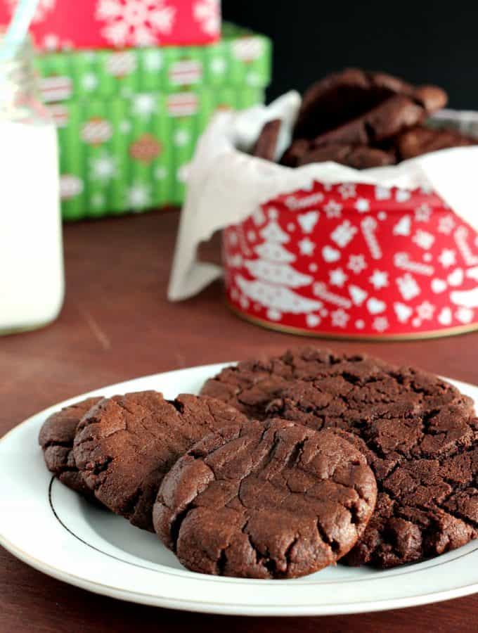 {Gluten-Free, Dairy-Free} Chocolate Peanut Butter Cookies: super easy and totally rich and fudgy! www.thereciperebel.com