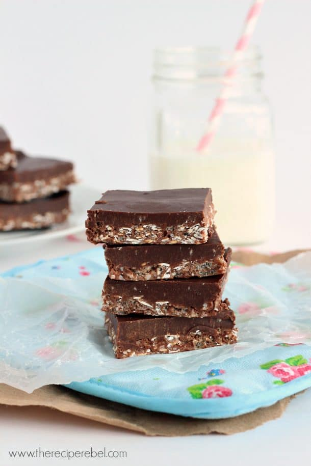 No-Bake Crunch Bars: so easy and totally irresistible! www.thereciperebel.com