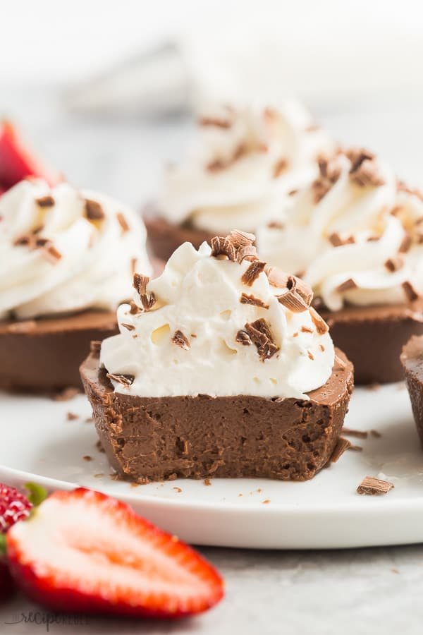 mini chocolate cheesecakes with bite