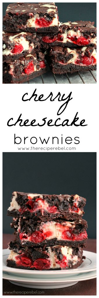 Cherry Cheesecake Brownies www.thereciperebel.com 7