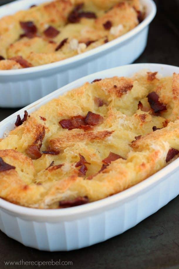 Maple Bacon Bread Pudding: for breakfast or dessert! www.thereciperebel.com