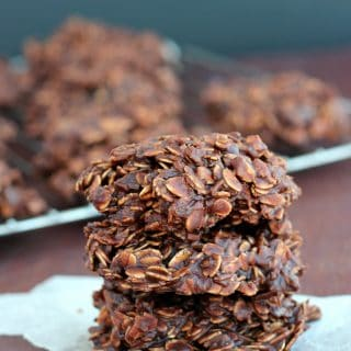 No-Bake Chocolate Peanut Butter Lentil Cookies