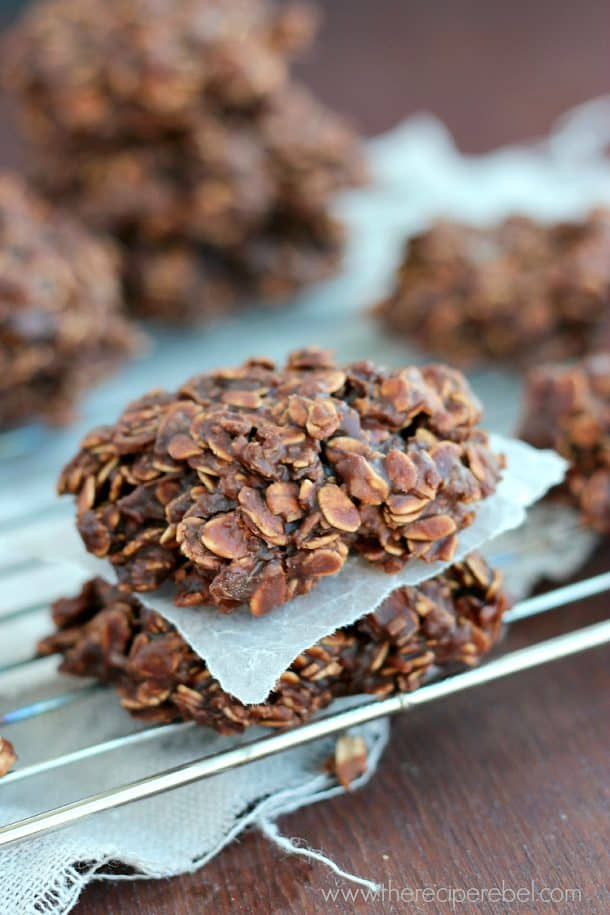 No-Bake Chocolate Peanut Butter Lentil Cookies: lentils, oats and coconut make these no-bake cookies even healthier and full of protein and fiber. But you'd never know, because they taste just like the old favorite! www.thereciperebel.com