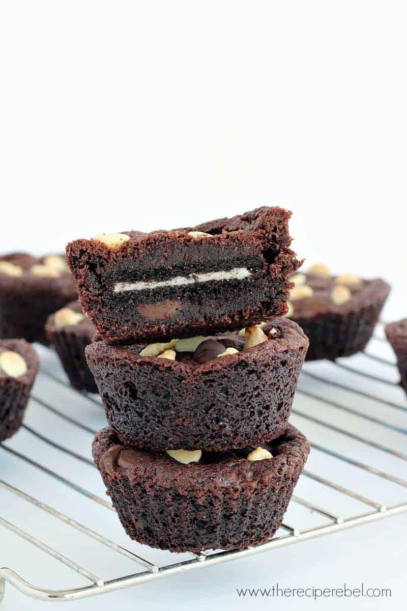 Oreo-Stuffed Double Chocolate Cookie Cups - The Recipe Rebel