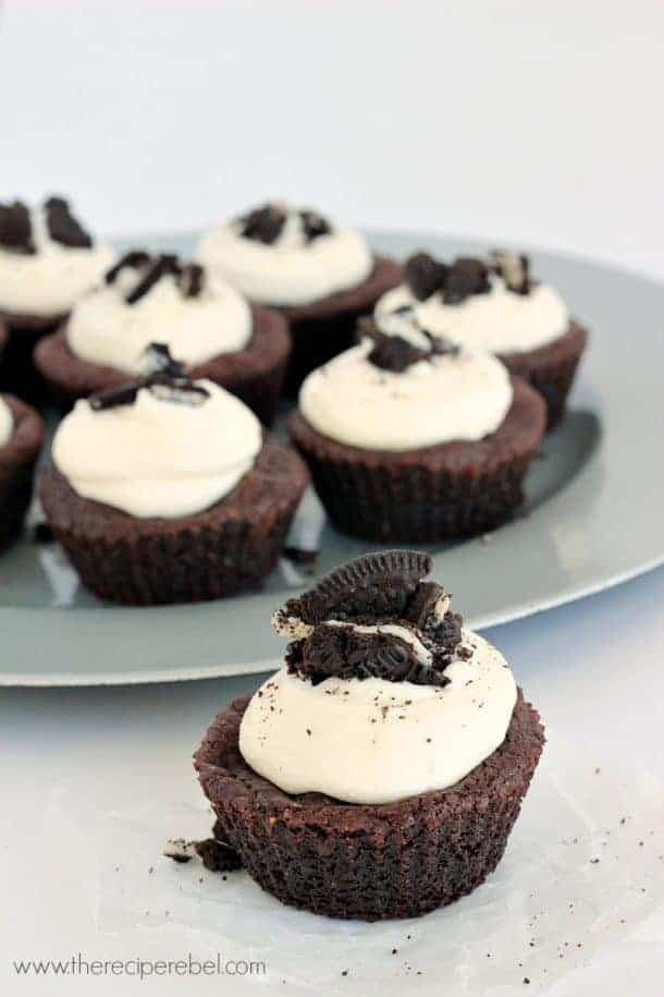 Oreo-Stuffed Double Chocolate Cookie Cups www.thereciperebel.com