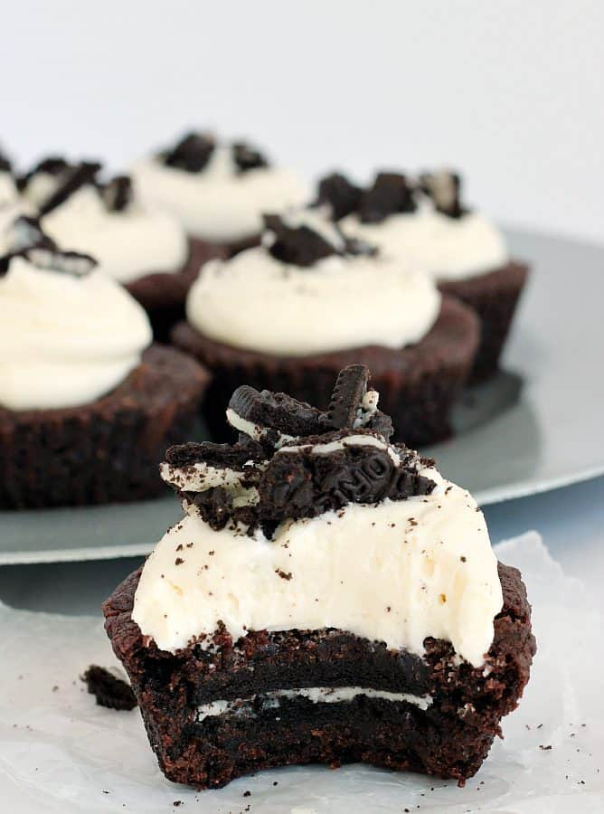 Oreo-Stuffed Double Chocolate Cookie Cups