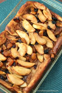 Overnight French Toast with Apples, Apricots and Cranberries