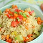 Quinoa Pilaf: a protein and veggie loaded side dish that goes with anything! www.thereciperebel.com