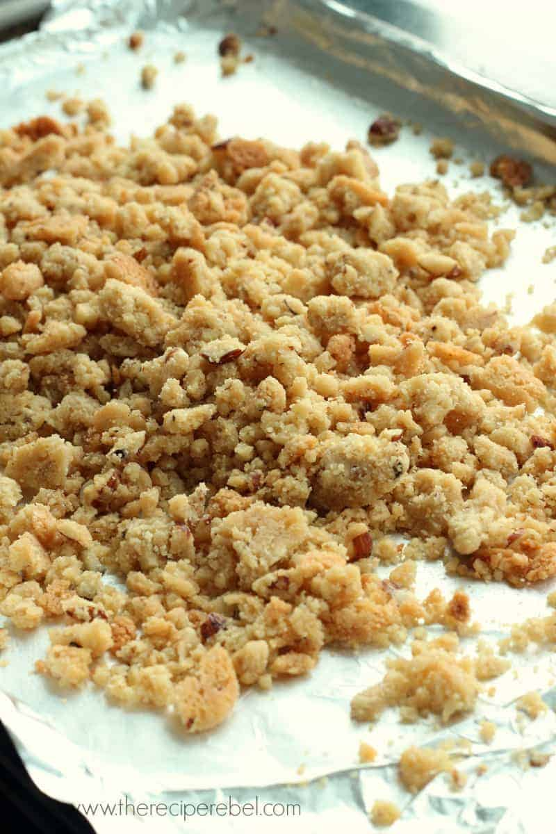 Salty Hazelnut And Brown Sugar Crumble The Recipe Rebel
