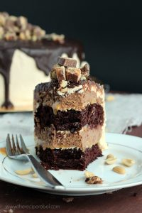 Snickers Cheesecake Cake and a Blog Birthday