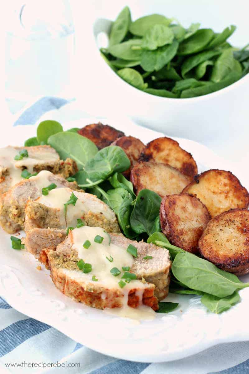 Cornbread-Stuffed Turkey Breast and Roasted Potatoes: a meal that's ...
