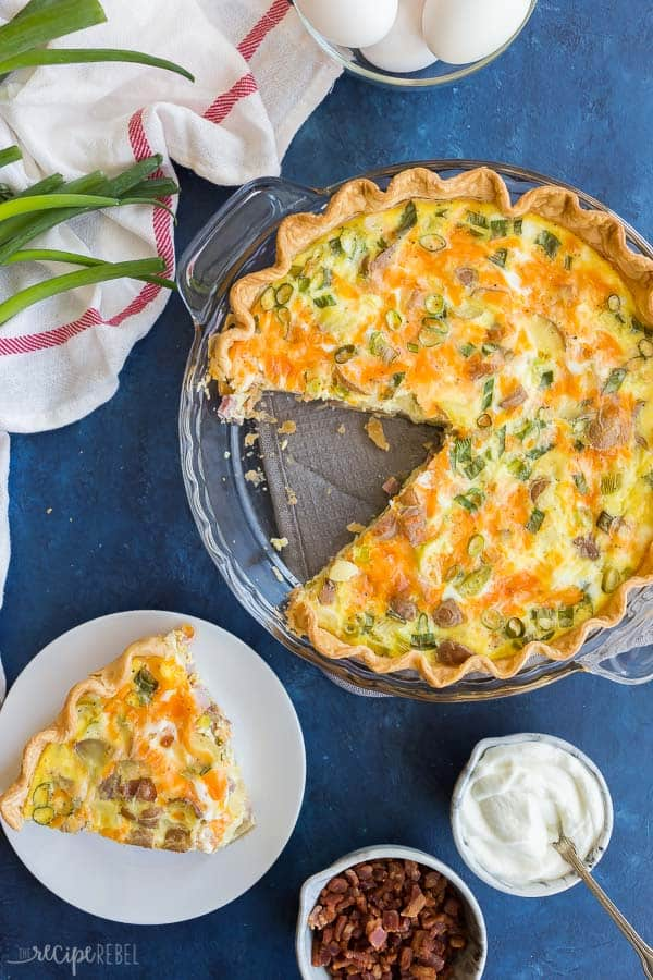 easy quiche recipe overhead
