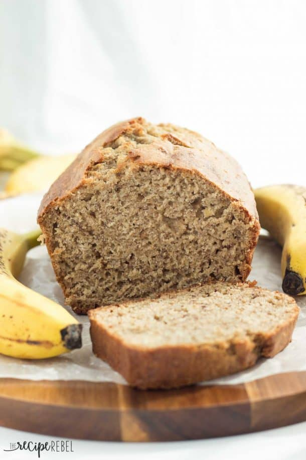 Classic Banana Bread: simple, no mixer, no frills banana bread that's super moist! The only recipe you'll need! www.thereciperebel.com