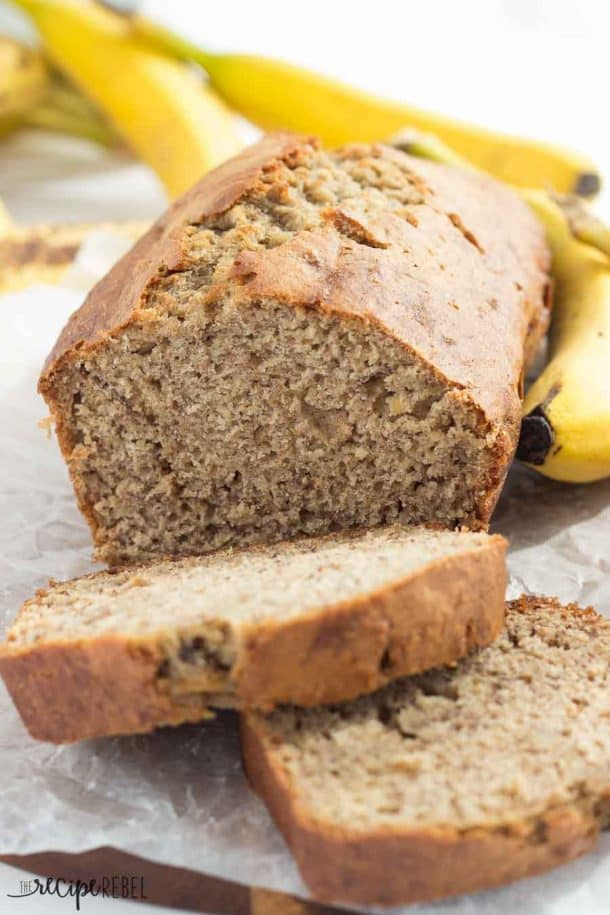 Classic Banana Bread: the perfect, super moist, no frills, one bowl banana bread! It's also secretly healthy! www.thereciperebel.com