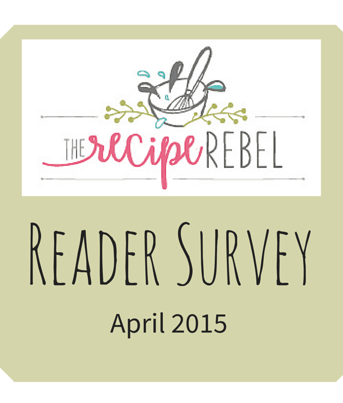 Reader Survey: April 2015 and Long Weekend Recipes!